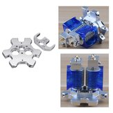 Aluminum Alloy V6 Fisheye Effector + M4 Fixed Plate For Dual Nozzle Extruder 3D Printer Part