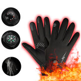 Winter Waterproof Skiing Gloves With Compass Heating Gloves Windproof Moto Gloves Cycling Winter Riding Gloves