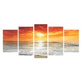 5 unidades de impressão de tela de paisagem do mar Pinturas de parede Impressão decorativa de arte Imagens sem moldura Decoração de parede para escritório doméstico