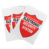 3Pcs SECURITY SYSTEM DECALS Decor Sticker Decal Video Warning CCTV Camera Home Alarm