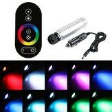 6W RGB LED Fibra 0ptic Night Light + RF Controle Remoto para Carro Veículo Party Stage Bar Decoração DC12V
