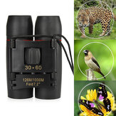 30x60 Folding Binocular HD Red Coated Film Lens Telescope Low Light Level Night Vision 126M/1000M