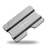 Porta carte di credito in metallo New-Bring Sottile Corda NBR in alluminio solido RFID Porta carte d'identità Porta carte di credito Portafoglio per uomo