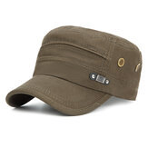 Men Unisex Vintage Military Cotton Flat Hat Sport Cap