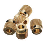 Creality 3D® 5PCS 40 Zähne 5mm Messing Extrusion Rad Getriebe mit M3 Schraube für 3D Drucker