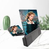 L5 12-tommers High Definition mobiltelefon skjermforsterker med forstørrende folding telefon stasjonær holder for filmspill telefonforsterker