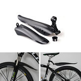 2 Pcs PVC Plastic Cycling Front Rear Mudguard Set Bike Fenders Set Bike Mudguard fits for 24-28