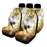 1/2/5 Seat Universal Car Seat Covers Styling Interior Accessories Automobile Seat Wolf Style Protect Cover