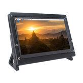 Catda 7Inch IPS HD Tela de toque capacitiva 1024 * 600 com suporte Caso para Raspberry Pi 4B / 3B +