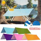 3x3m multifonction Anit-UV tente bâche pluie soleil ombre auvent abri hamac tapis de pique-nique pour Camping randonnée voyage