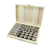 Drillpro 8Pcs 230mm Hexagonal Carbon Steel Auger Bit Set Wooden Case Machined  Woodworking Turret Drill Punching Door Lock Reaming Drill Kit