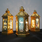 Eid Mubarak Ramadan LED Night Light Lantern Lamp Islam Hanging Decoration