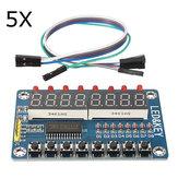5Pcs TM1638 Chip Key LED Дисплей Модуль 8 битов Digital LED Трубка Geekcreit для Arduino - продукты, которые работают с официальными платами Arduino