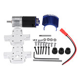 1PC Metal Transfer Gear Box 370 Motor for WPL B16 B24 B36 C24 JJRC Q60 Q61 4WD 6WD RC Car