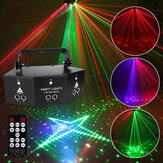 Projetor 9-EYE RGB DMX LED Laser Luz Controle Remoto Strobe DJ Party Stage Lighting US Plugue AC110V / 220V