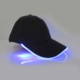 Unisex New Punk Style luce a led Berretto da baseball Berretto luminoso Cappello Snapback moda Cappello in fibra ottica