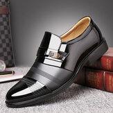Männer bequeme Leder Business Schnür formelle Schuhe