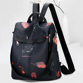 Women Anti-theft Backpack Purse Travel Print Oxford Backpack