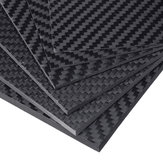 100x250x(0.5-5)mm Black Matte Twill Carbon Fiber Plate Sheet Board Weave Carbon Fiber Pannel Various Thickness