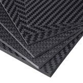 100x250x (0,5-5) мм Черный матовый твил Углеродное волокно Пластина Листовая плита Weave Углеродное волокно Панели различной толщины
