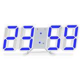 Luminous 3D Digital Relógio Controle de voz montado na parede LED Alarme eletrônico com verificação de temperatura e material escolar