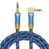 EMK 3.5mm Jack Audio Cable 90 Degree Right Angle AUX Wired For Car Headphone MP3 MP4