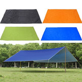 210x150cmالتخييمفيالهواءالطلقخيمة قماش القنب ظلة المطر المأوى المظلة ضد للماء نزهة حصيرة