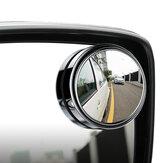 Specchietto Retrovisore da Automobile Macchina per Punto Cieco di Vetro Convesso HD con Campo Visivo da 360 Gradi Regolabile