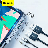 Baseus Upgraded Version USB-C Hub Adapter Docking Station With 2 * USB 3.0 / 60W Type-C PD / 4K HD Display / 3.5mm Audio Jack / TF Memory Card Reader Non-original