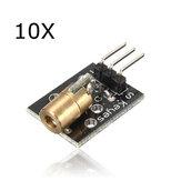 10Pcs KY-008 Module émetteur laser AVR PIC Geekcreit pour Arduino - produits qui fonctionnent avec les cartes Arduino officielles