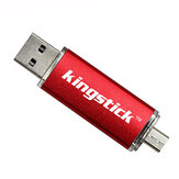 Kingstick 32G 64G USB2.0 Micro USB Flash Drive Disk Portable Pen Drive Support OTG for Mobile Phone