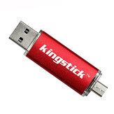 Kingstick USB2.0 32G 64G Flash Drive Micro USB Disk hordozható tollmeghajtó OTG támogatás mobiltelefonhoz