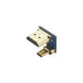 Catda C1924 Adaptador HDMI HDMI macho a Micro HDMI macho Adaptador convertidor de alta velocidad Conector para Raspberry Pi 4B