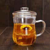 Filtr z pokrywką szklaną Herbata Przezroczysta żaroodporna