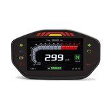 14000RPM Moto TFT LCD Pantalla Velocímetro digital Cuentakilómetros 6 Medidor de luz de fondo para 1 2 4 Cilindros Universal