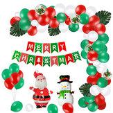 Conjunto de balões de Natal Decoração de festa de Natal feliz com bandeira de Natal suprimentos de layout de cena criativa