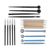 18 pcs Professional Polymer Clay Sculpting Tools Pottery Models Art Projects Kit