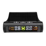 Solar Coche TPMS Alarma de presión de neumáticos Monitor Sistema de 4 pantallas Interior / Advertencia Temperatura externa Sensor T01N T01C Visture