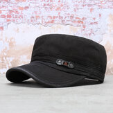 Collrown Erkek Yıkanmış Pamuk Düz Üst Şapka Outdoor Güneş Koruyucu Askeri Ordu Peaked Dad Cap