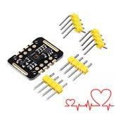 5Pcs MAX30102 Frequência cardíaca dos testadores de frequência cardíaca Sensor Módulo Detecção de pulsos Teste de concentração de oxigênio no sangue Geekcreit para Arduino - produtos que funcionam com placas oficiais Arduino