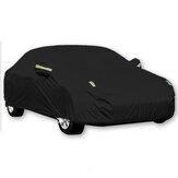Capa preta completa para carro à prova d'água Sol Chuva Calor Poeira UV Proteção resistente 190T