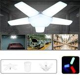 E27 5 + 1/3 + 1 lâminas LED Lâmpada dobrável ajustável Lâmpada de garagem Deformável Luminária de teto AC85-265V / 220V