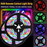 0.5m / 1m / 2m / 3m RGB LED Lâmpada 2835 SMD Bar de luz de TV do hotel Luz de fundo da corda Luz impermeável com controle remoto