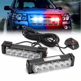 2 en 1 LED Strobe Lights Front Grille Lampe de poche Avertissement Lampe 12V 6W pour SUV Truck Off Road Car
