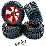Wltoys 104001 1/10 RC Coche llantas mejoradas, llantas, 4 piezas, modelos de vehículos, piezas de repuesto