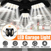 40W E27 Deformable 108LED Garage Light Bulb Waterproof Foldable Fixture Ceiling Workshop Night Lamp 85-265V