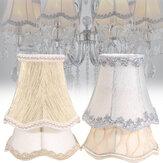 Vintage małe koronkowe abażury teksturowane tkaniny na żyrandol sufitowy