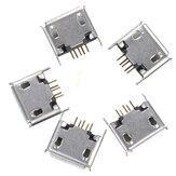 5 قطع مايكرو USB نمط ab أنثى 180 درجة DIP 5pin المقبس لحام جاك موصل smt