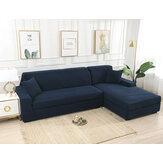 Escuro-azulelásticocapade sofá elástico sólido antiderrapante Soft Slipcover lavável sofá protetor de móveis para sala de estar