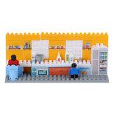 Goldkids HJ-35005A 80PCS Kitchen Series Pentagram Bucket DIY Bloques de montaje Juguetes para niños Regalo